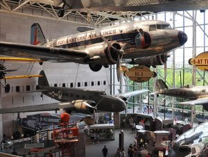 The Air and Space Museum on the Mall, the most visited museum in the world.