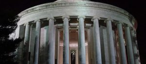 The Jefferson Memorial just as stunning at night.