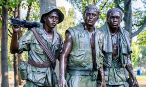 Sculpture at the Vietnam War Memorial
