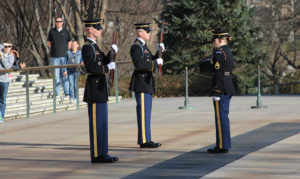 The Changing of the Guard at Arlington Memorial Cemetery